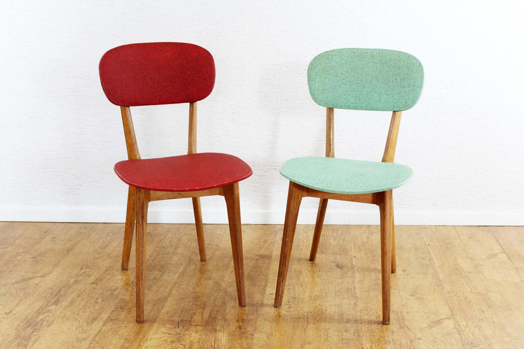 franz sische vintage st hle 1950er 2er set bei pamono kaufen. Black Bedroom Furniture Sets. Home Design Ideas