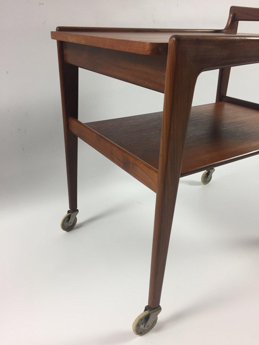 mid century teak servierwagen bei pamono kaufen. Black Bedroom Furniture Sets. Home Design Ideas