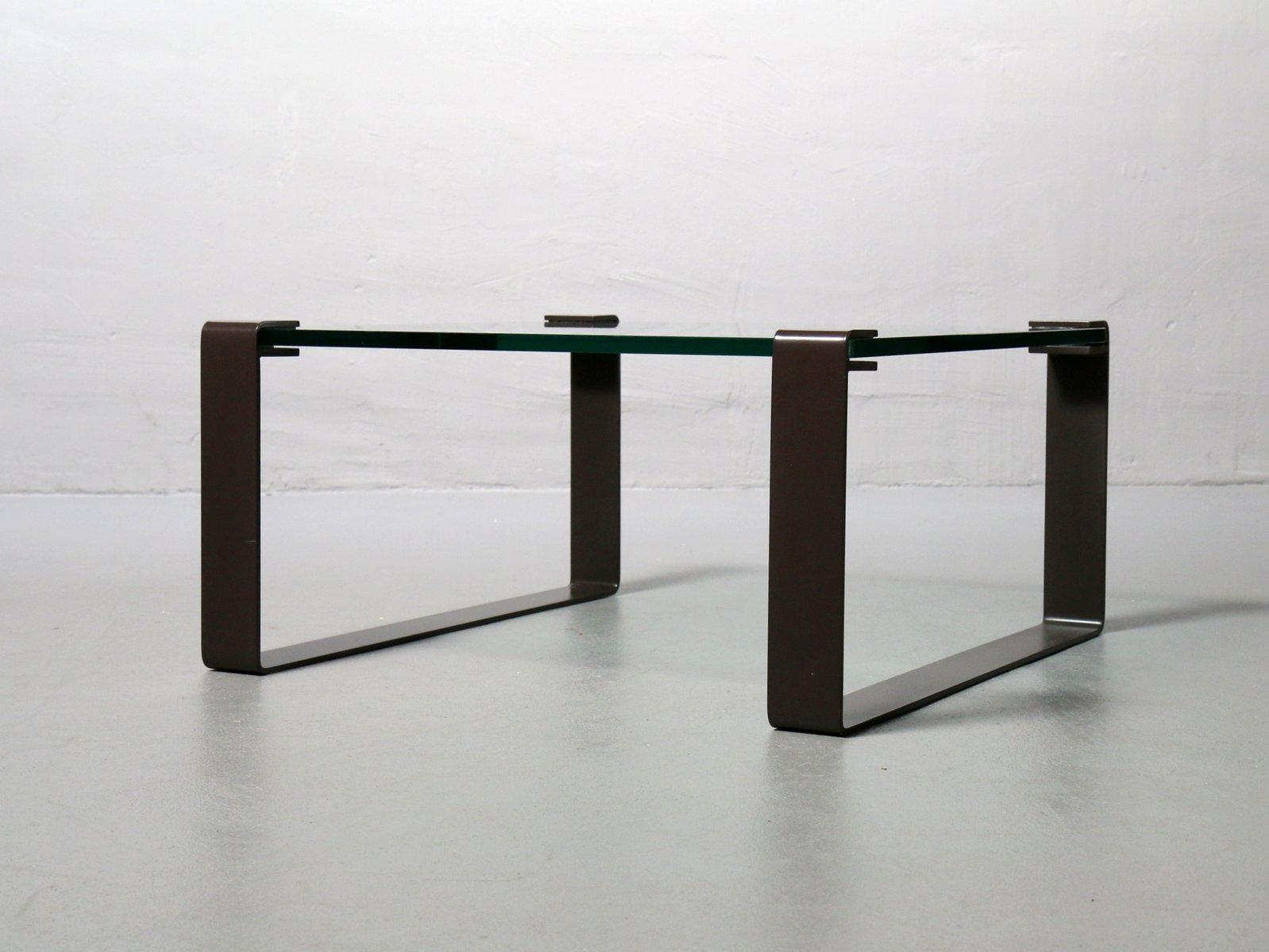 Klassik 1022 Couchtisch aus Braunem Stahl von Peter Draenert, 1970