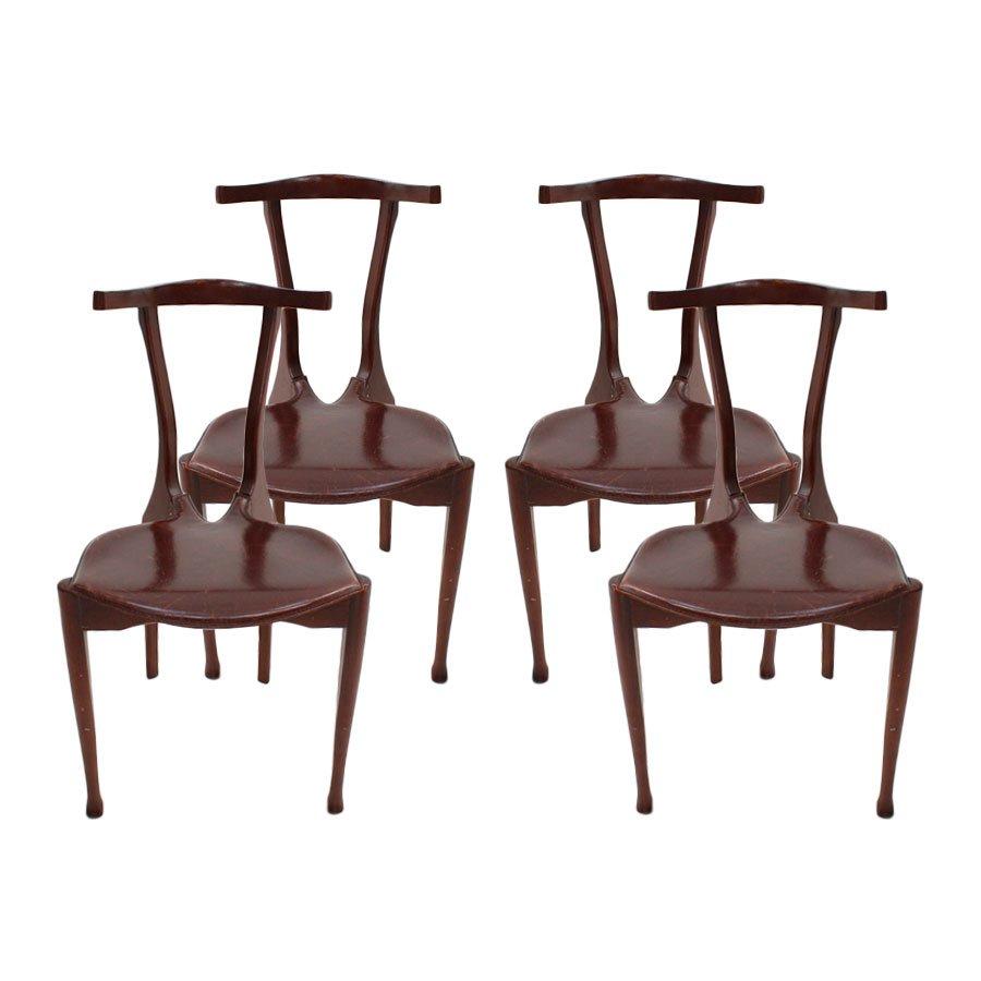 gaulino st hle von oscar tusquets 1987 4er set bei pamono kaufen. Black Bedroom Furniture Sets. Home Design Ideas