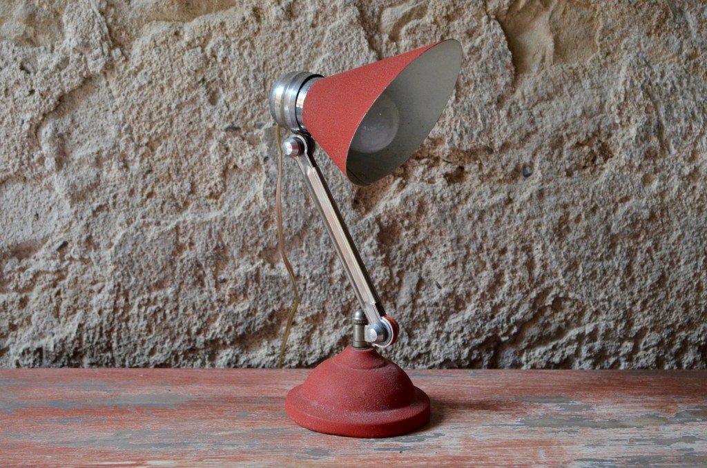 Französische Mid-Century Schreibtischlampe