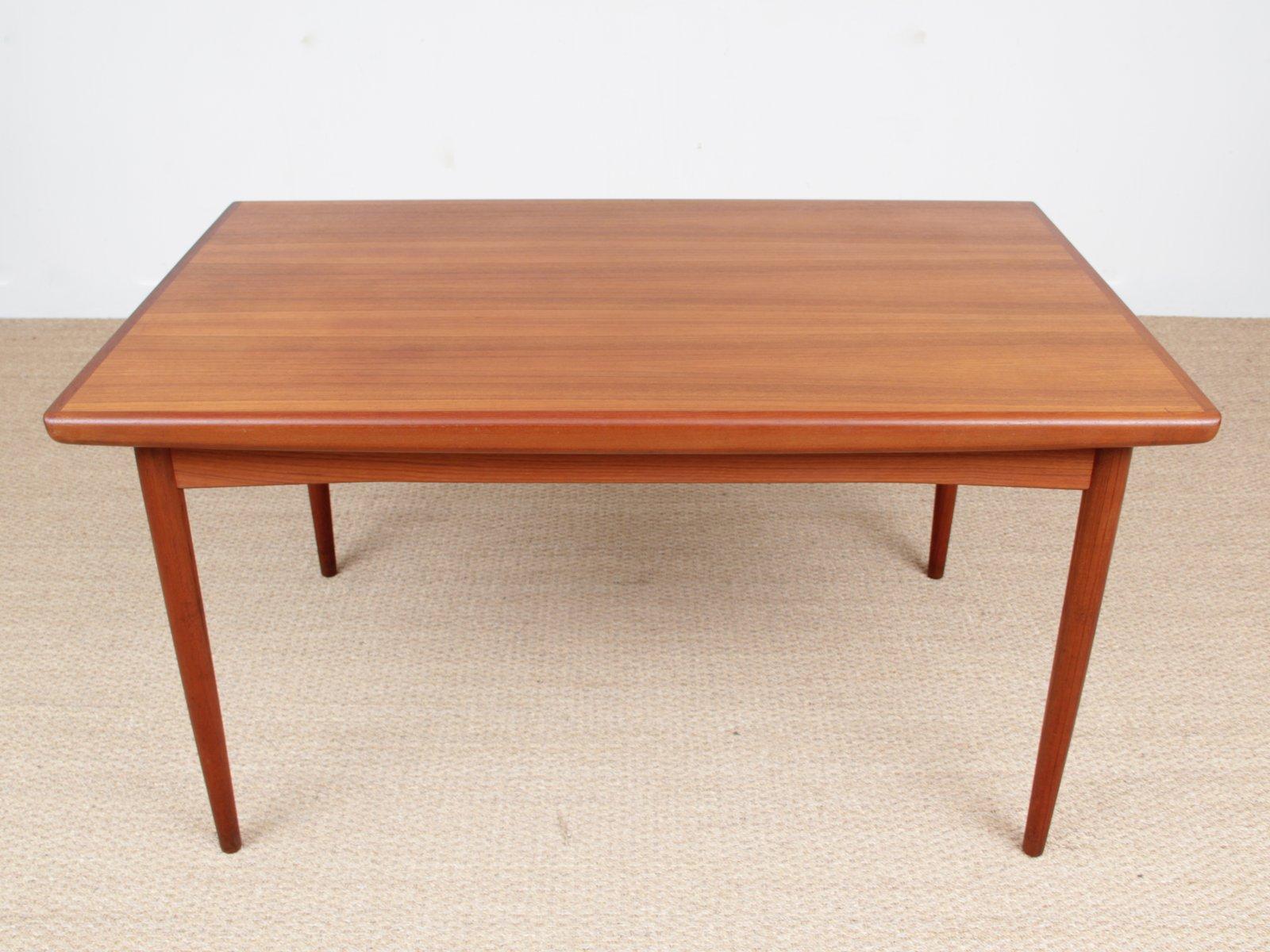 skandinavischer teak esstisch von dyrlund 1950er bei pamono kaufen. Black Bedroom Furniture Sets. Home Design Ideas