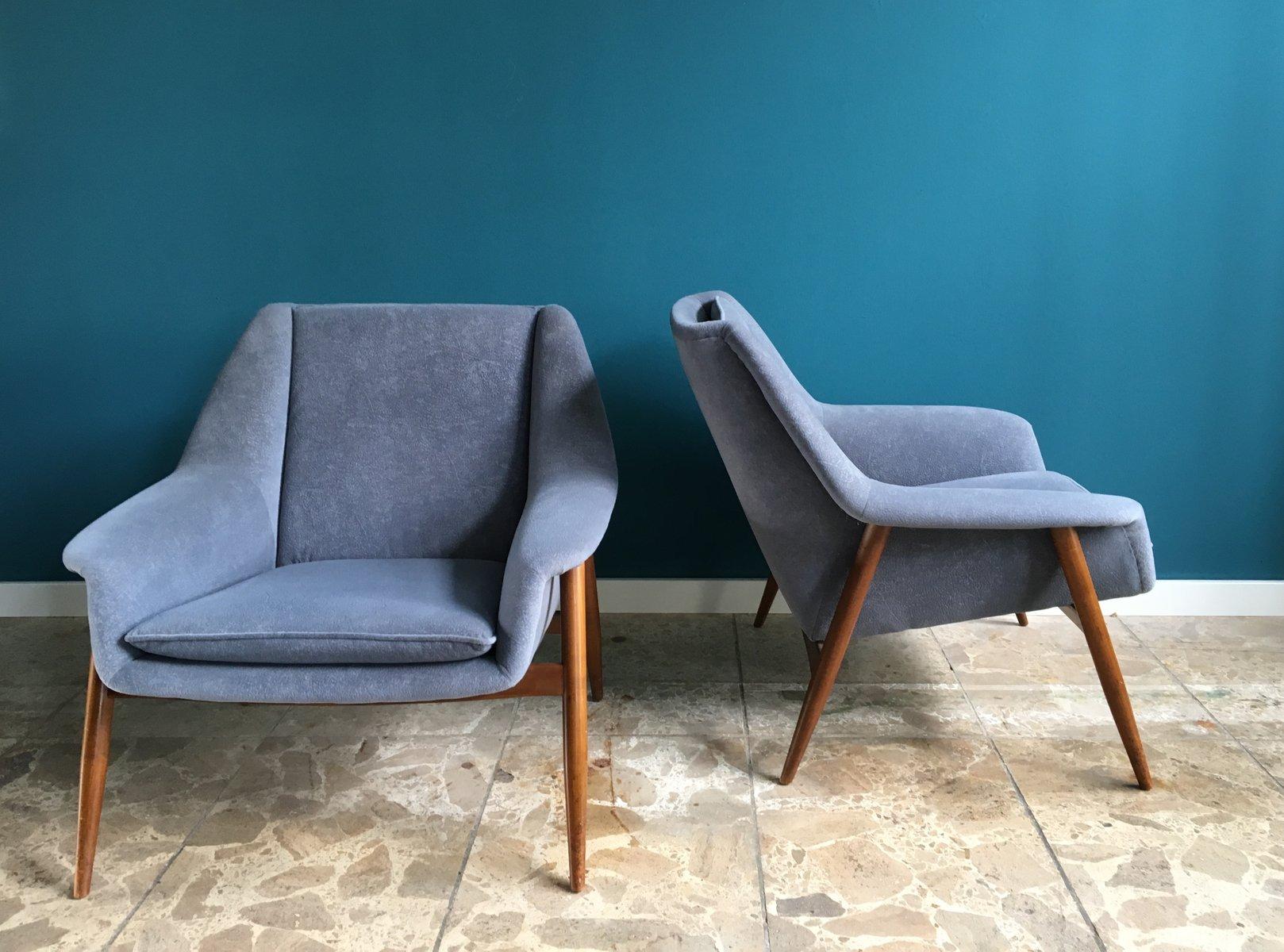 mid century teak sessel 1960er 2er set bei pamono kaufen. Black Bedroom Furniture Sets. Home Design Ideas