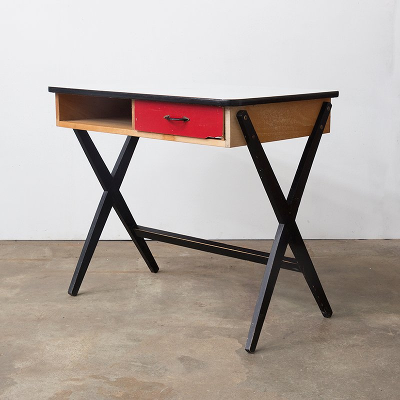 Vintage Wooden Writing Desk With Formica Top From Devo 11 1 402 00 Price Per Piece