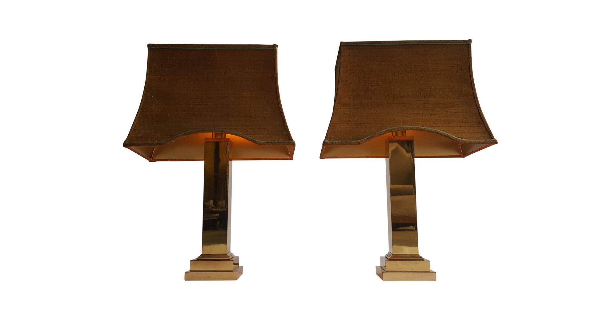 Vintage Tischlampen aus Vergoldetem Metall und Messing von Gaetano Sci...