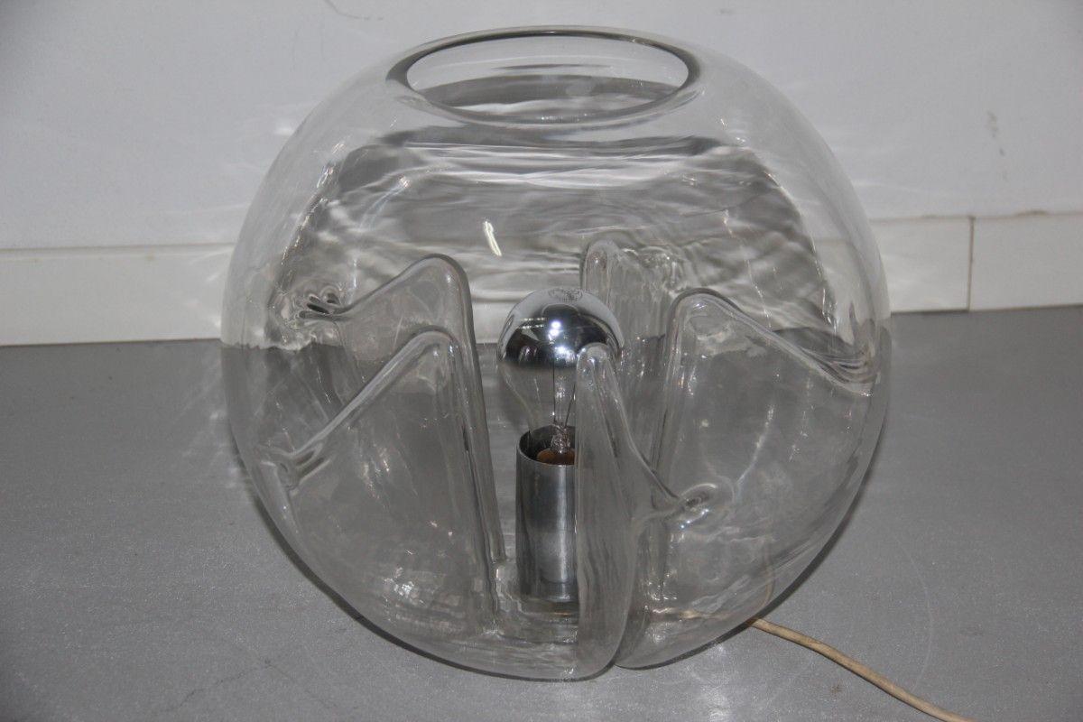 Murano Glas Nuphar Stehlampe von Tony Zuccheri für Veart, 1970er