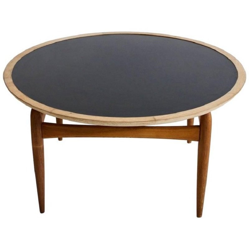 Round Coffee Table Uk Sale: Mid-Century Round Oak Coffee Table By Ludvig Pontoppidan