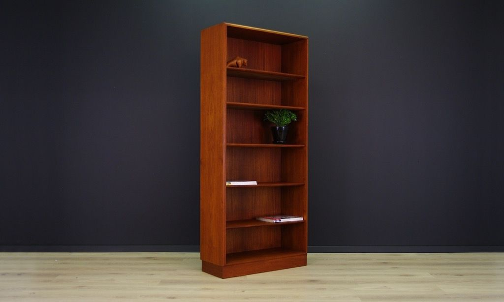 d nisches mid century teak b cherregal bei pamono kaufen. Black Bedroom Furniture Sets. Home Design Ideas
