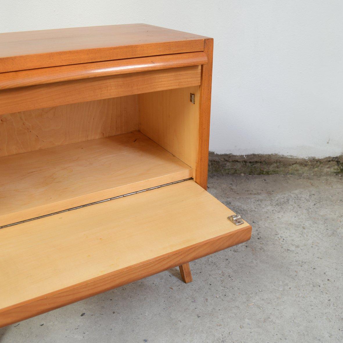 petit meuble en bois avec pieds compas 1960s en vente sur. Black Bedroom Furniture Sets. Home Design Ideas