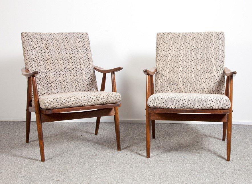 Tschechoslowakische Vintage Sessel, 2er Set