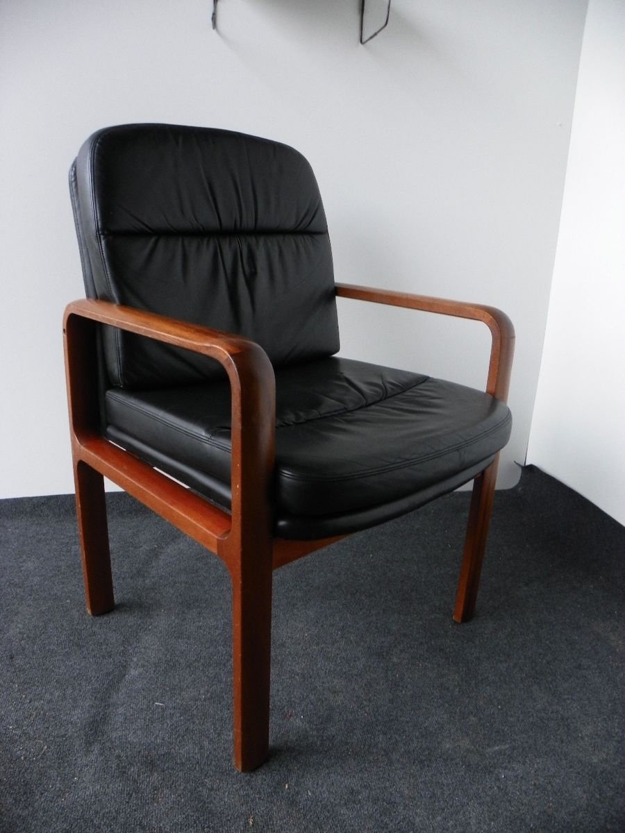 29d87da1a9d434 Vintage Leather Armchair from Kondor Mobel-Perfektion for sale at Pamono