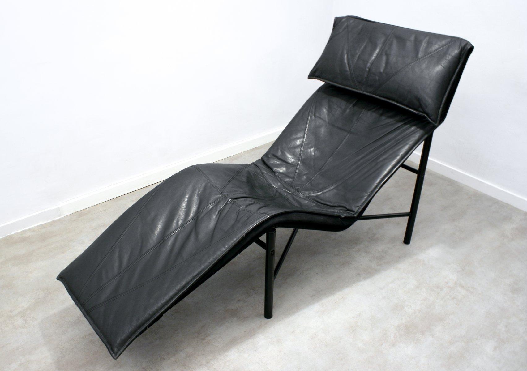 Chaise longue skye en cuir noir par tord bj rklund pour ikea 1980s en vente sur pamono - Chaise longue en anglais ...