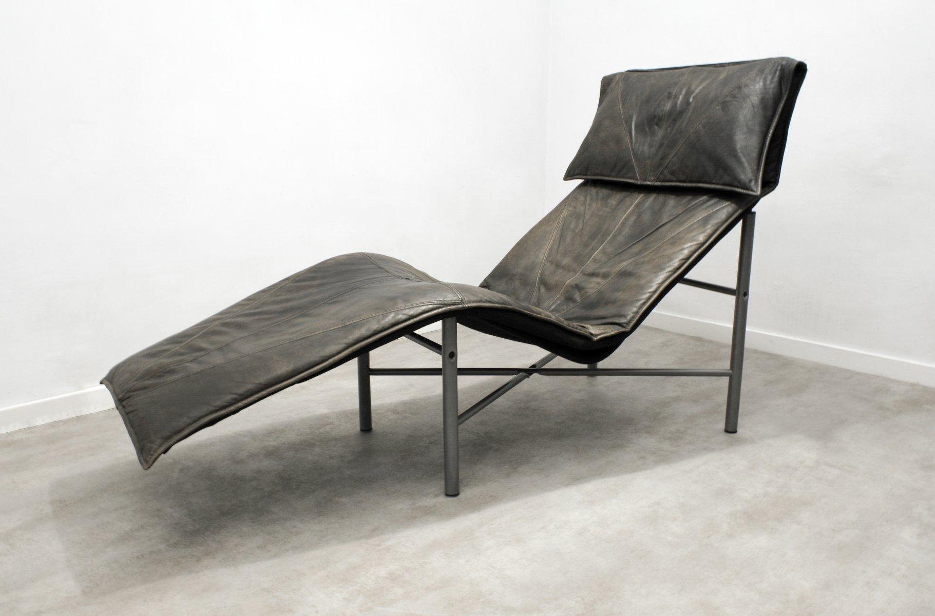 chaise longue skye en cuir marron par tord bj rklund pour ikea 1980s en vente sur pamono. Black Bedroom Furniture Sets. Home Design Ideas