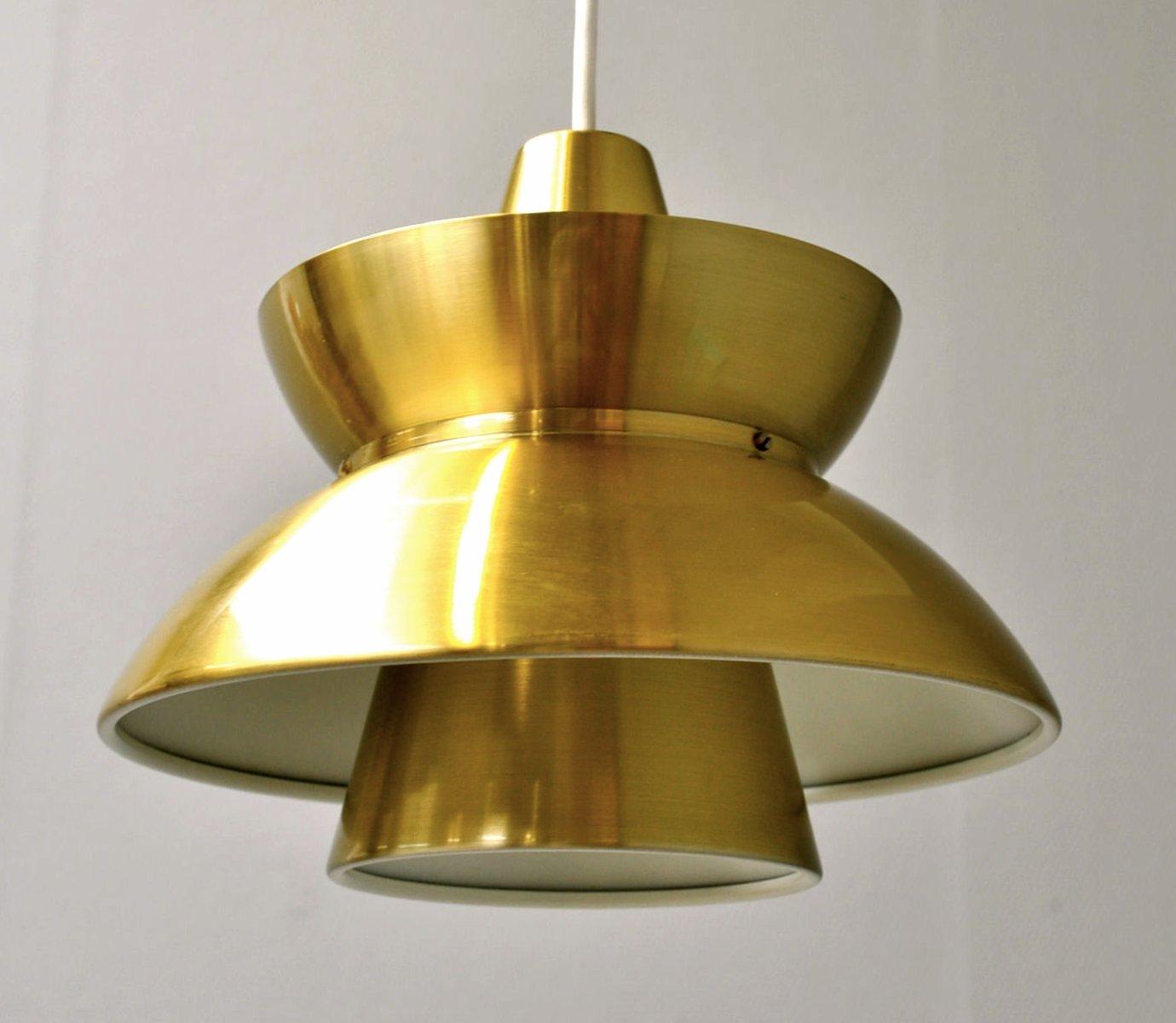 Vintage Brass Søværnspendel Pendant By Jorn Utzon For