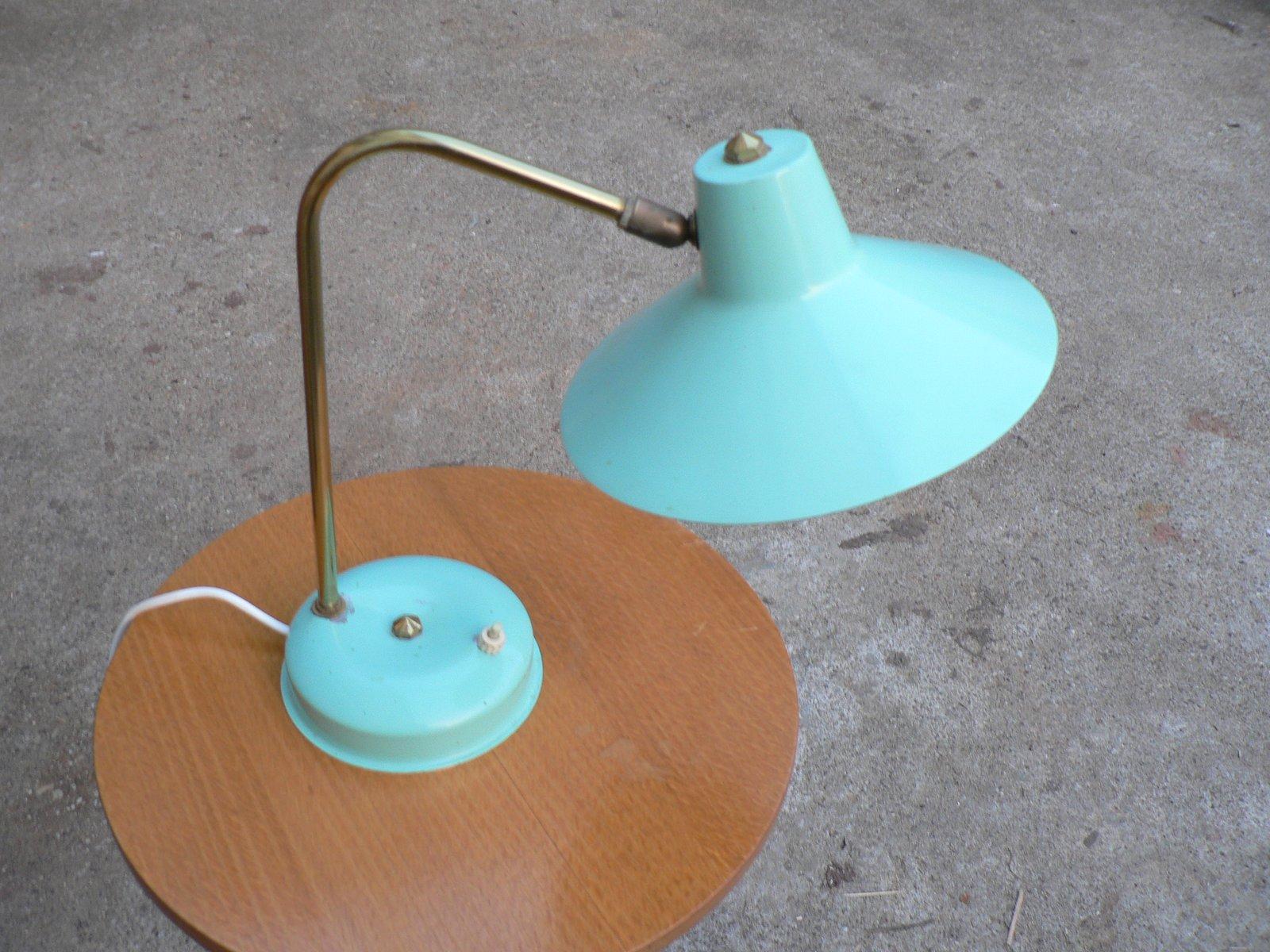 Blaue Tischlampe, 1960er