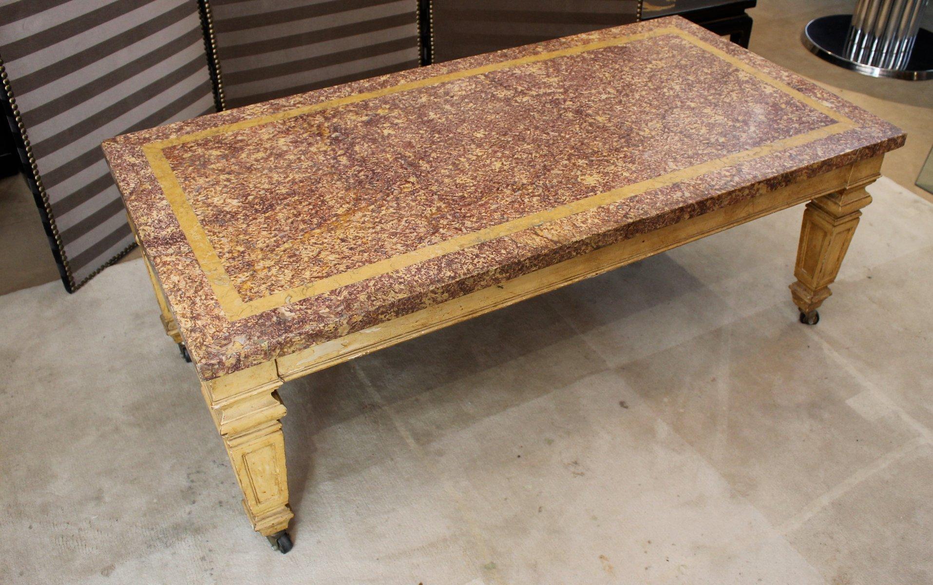 table basse vintage en marbre 1970s en vente sur pamono. Black Bedroom Furniture Sets. Home Design Ideas