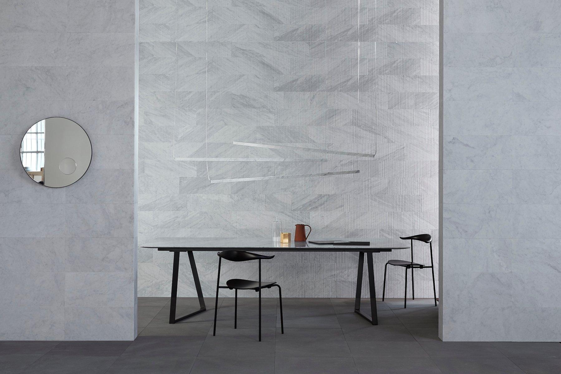 Lámpara de techo Farfalla de mármol Bianco Carrara de Marco Carini ...