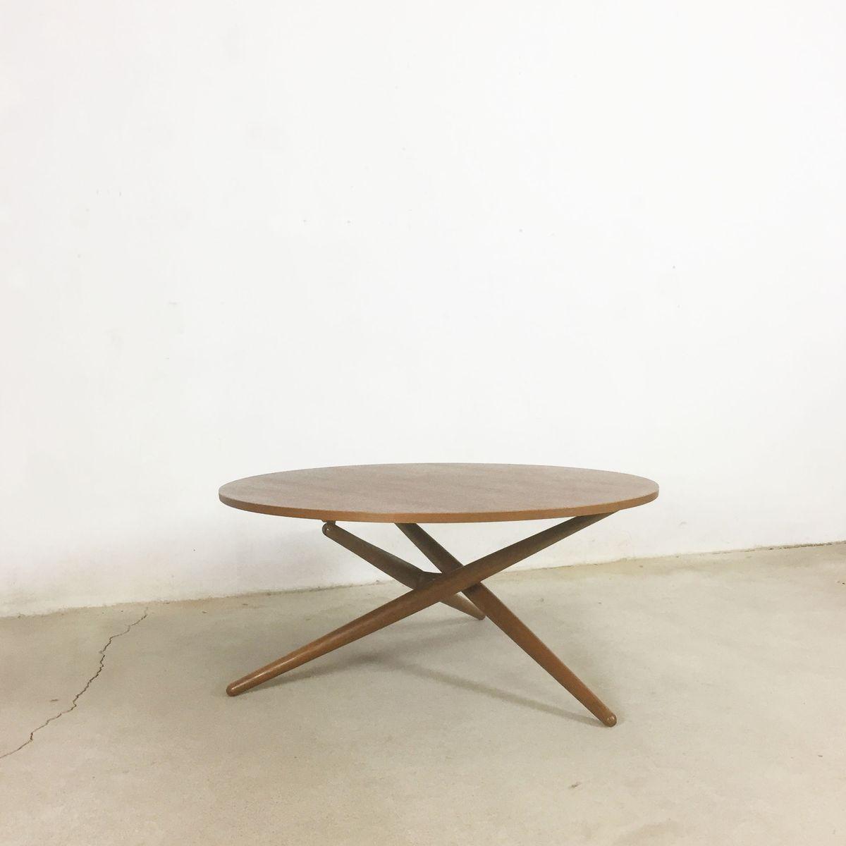 Ess Tee Teak Tisch von Jürg Bally für Wohnbedarf Zürich, 1950er