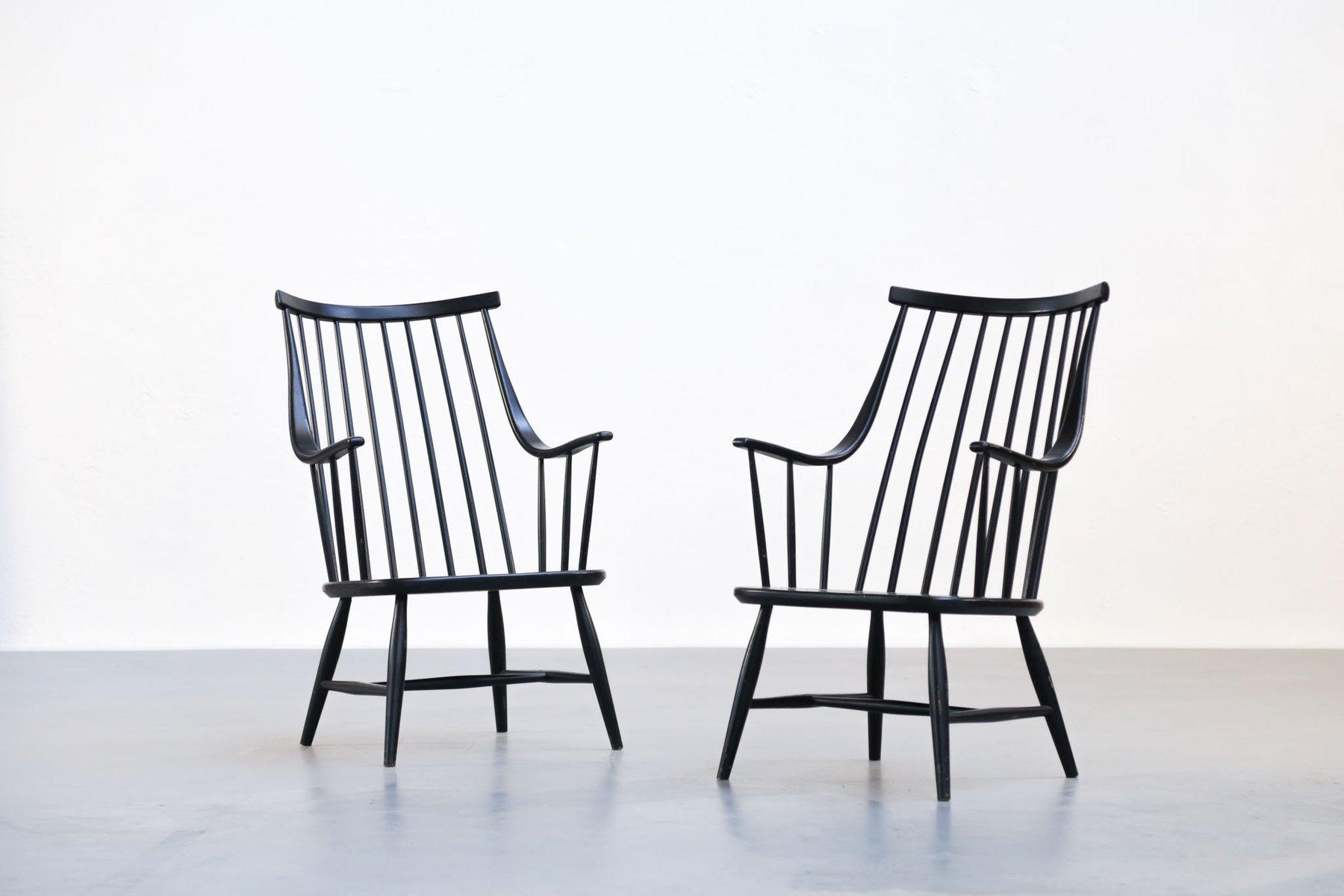 Schwedische Sessel von Lena Larsson für Nesto, 1960er, 2er Set