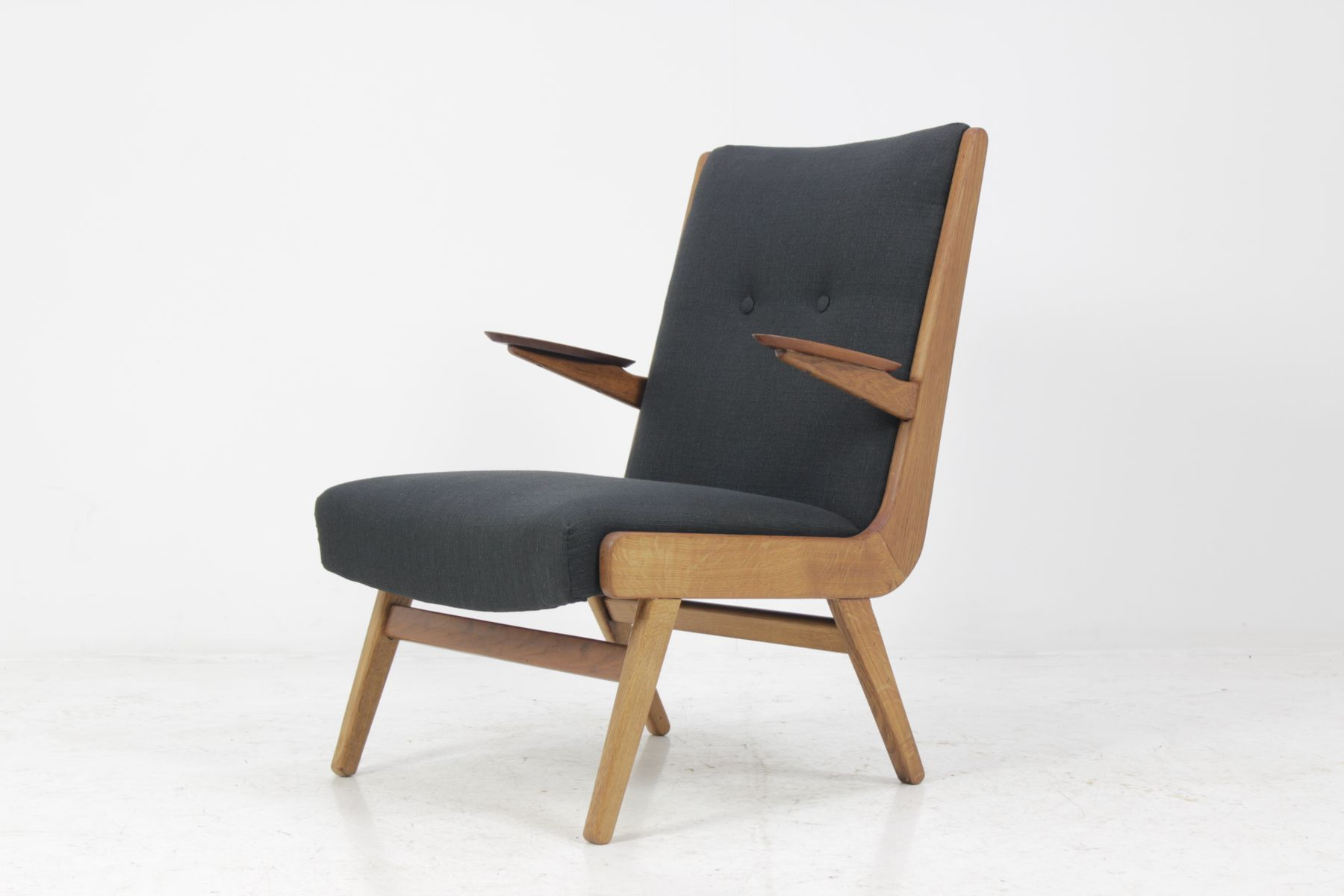d nischer teak sessel 1960er bei pamono kaufen. Black Bedroom Furniture Sets. Home Design Ideas