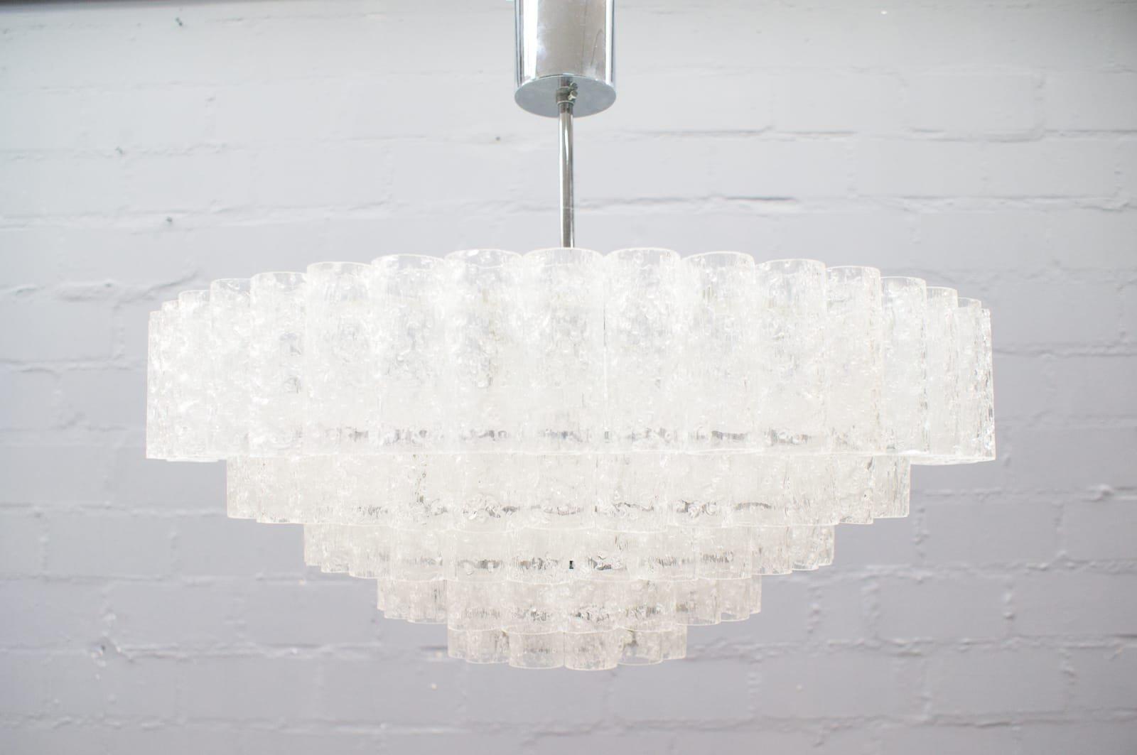 Moderne Lampen 5 : German 5 tier chandelier from doria leuchten 1960s for sale at pamono