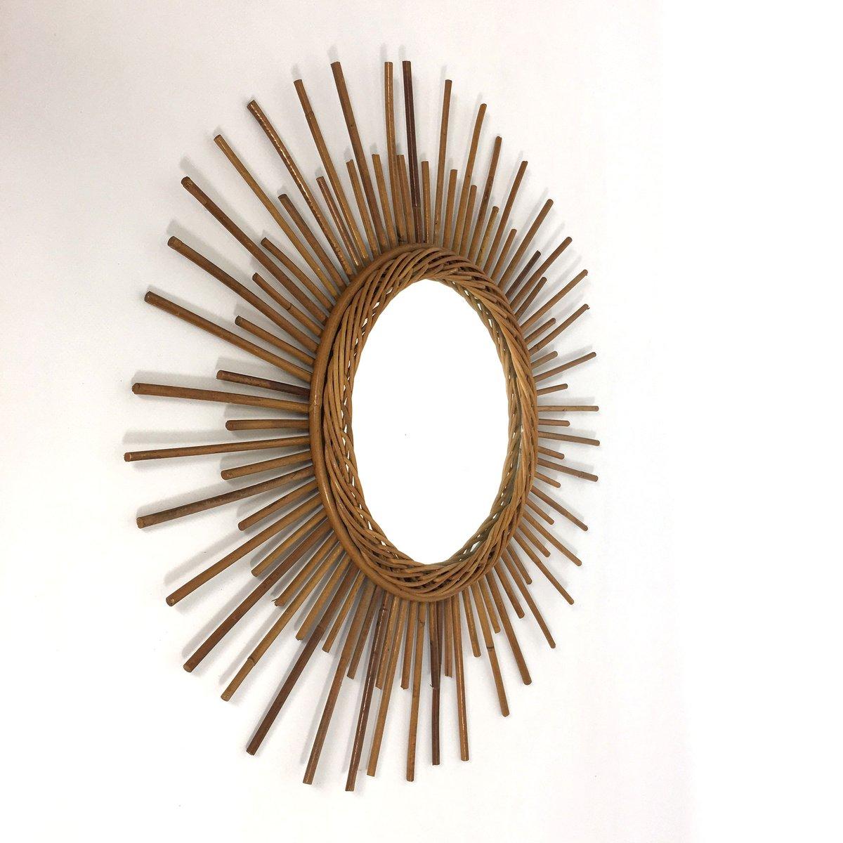 Espejo franc s con forma de sol a os 60 en venta en pamono for Espejos decorativos con forma de sol