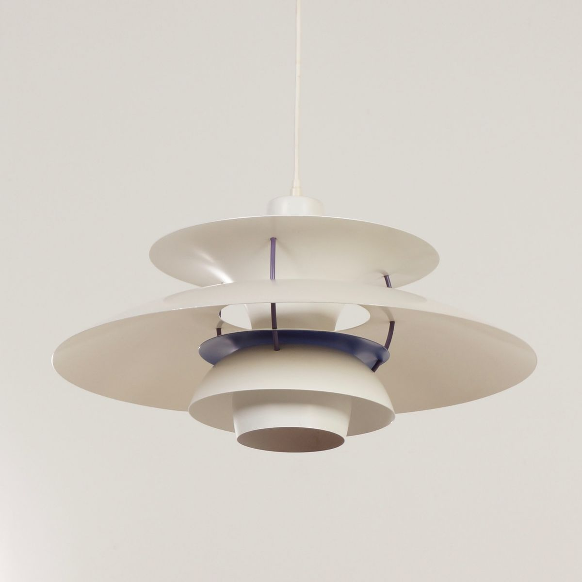 Vintage PH 5 Pendant Lamp In White By Poul Henningsen For