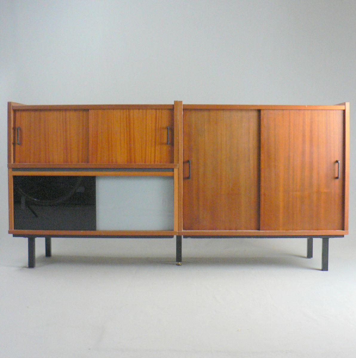 sideboard aus mahagoni furnier glas 1960er bei pamono kaufen. Black Bedroom Furniture Sets. Home Design Ideas