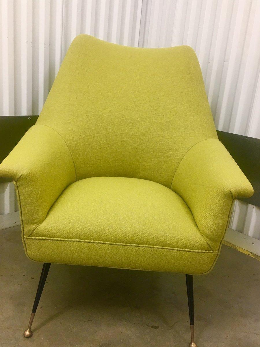 Italienischer Stuhl mit Metallbeinen, 1960er