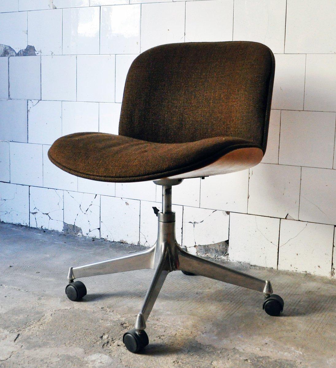 Sedie da ufficio mid century di ico parisi per mim design set di 4 in vendita su pamono - Sedie girevoli da ufficio ...