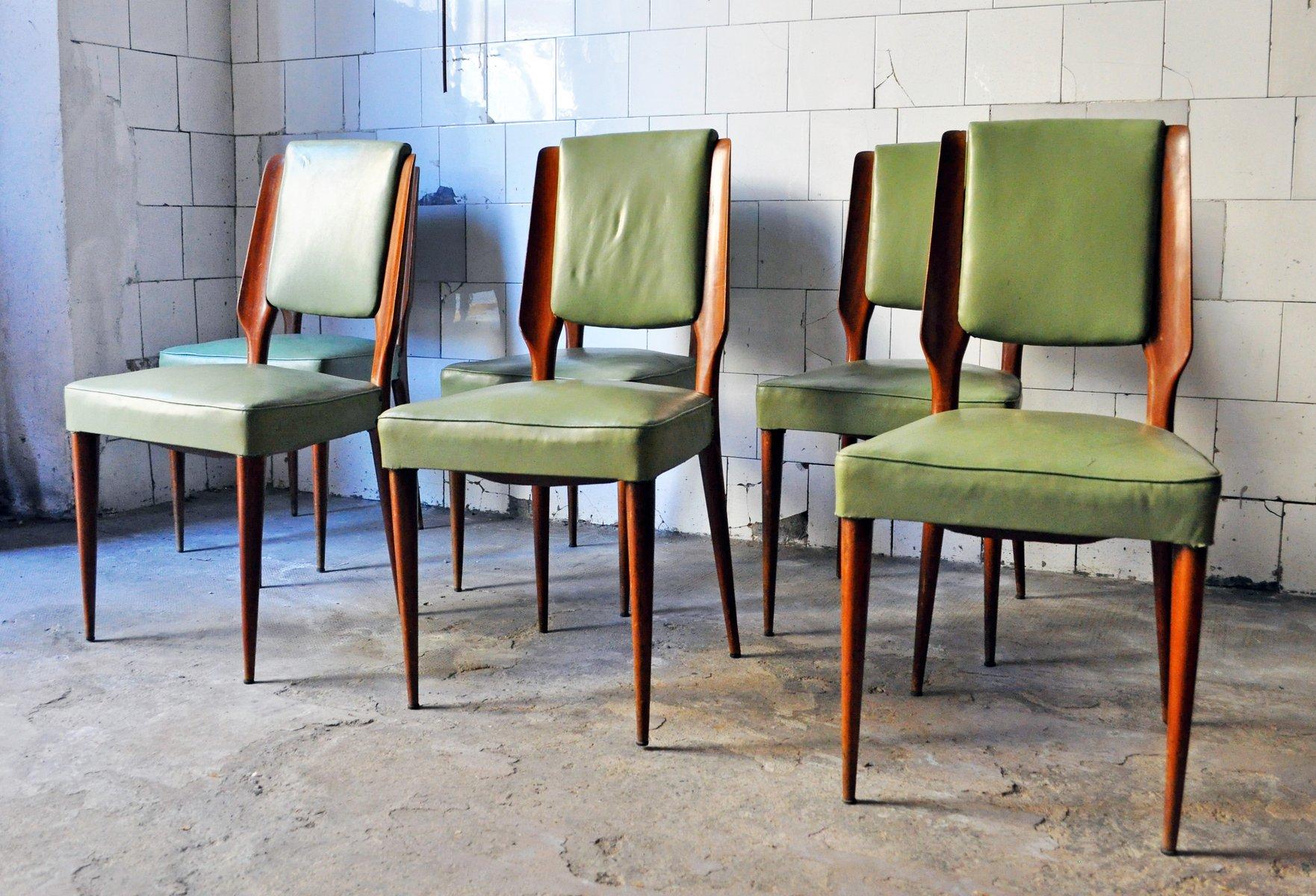 mid century st hle von paolo buffa 6er set bei pamono kaufen. Black Bedroom Furniture Sets. Home Design Ideas