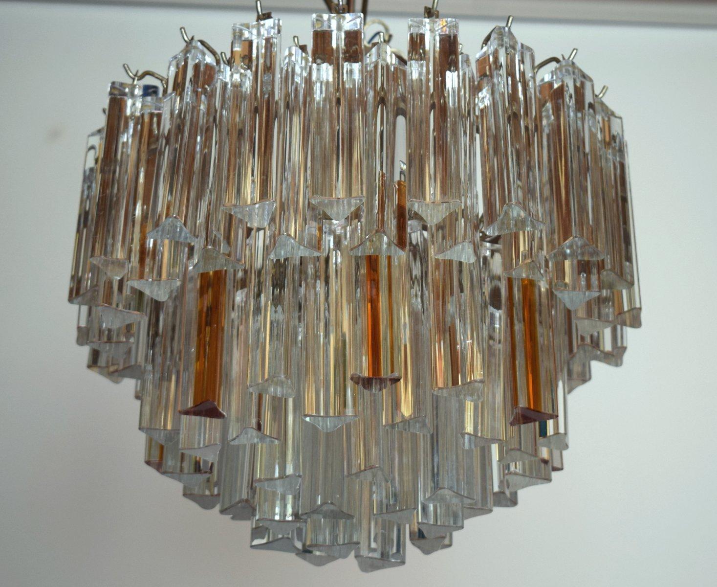Kronleuchter Modern Glas ~ Mid century modern kronleuchter aus glas in klar bernsteingelb