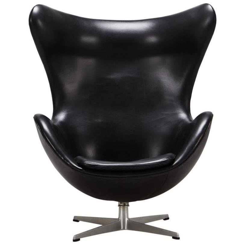 chaise egg par arne jacobsen pour fritz hansen 1965 en vente sur pamono. Black Bedroom Furniture Sets. Home Design Ideas