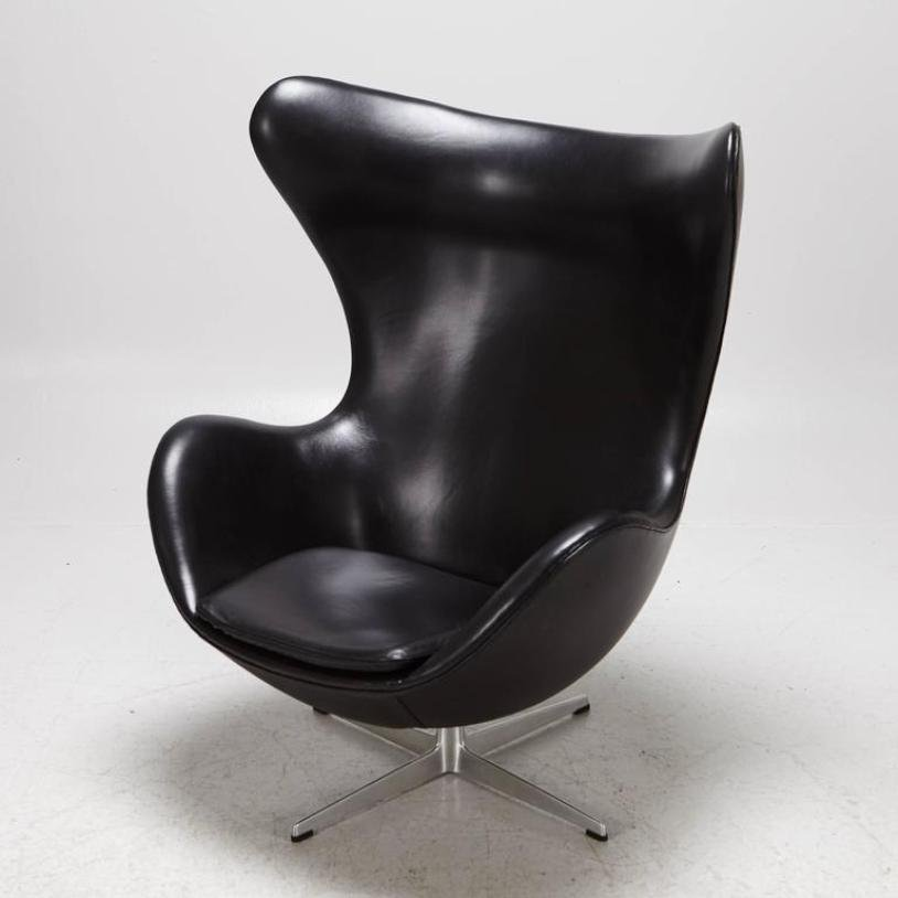 egg chair by arne jacobsen for fritz hansen 1965 for sale at pamono. Black Bedroom Furniture Sets. Home Design Ideas