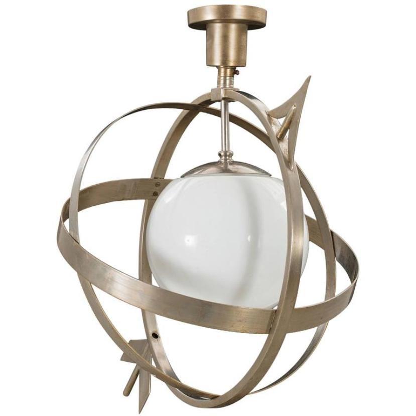 Schwedische Art Deco Deckenlampe, 1930er