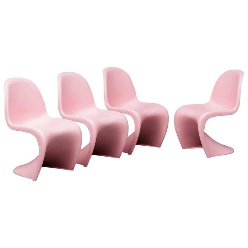 s st hle von verner panton f r vitra 1958 4er set bei pamono kaufen. Black Bedroom Furniture Sets. Home Design Ideas