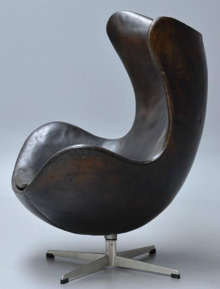 chaise egg par arne jacobsen pour fritz hansen 1960s en vente sur pamono. Black Bedroom Furniture Sets. Home Design Ideas