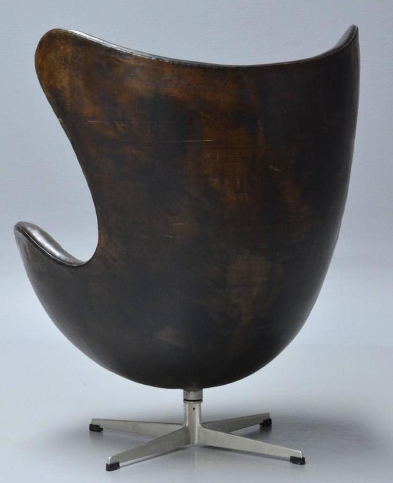 egg chair von arne jacobsen f r fritz hansen 1960er bei pamono kaufen. Black Bedroom Furniture Sets. Home Design Ideas