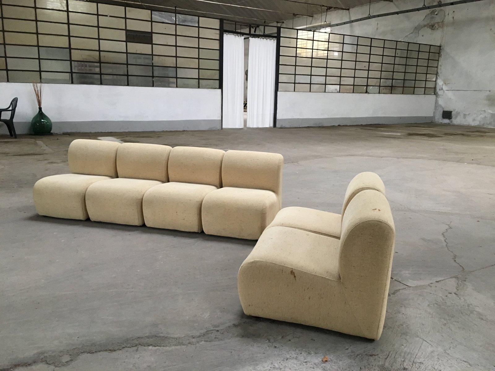 modulares italienisches sofa 1970er bei pamono kaufen. Black Bedroom Furniture Sets. Home Design Ideas