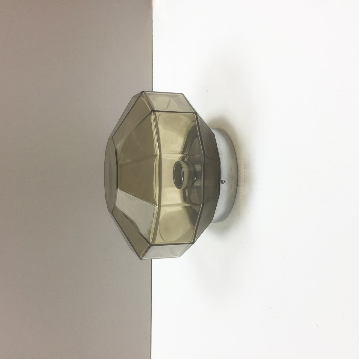 Moderne Deutsche Diamant Wandlampe von Glashütte Limburg, 1970er