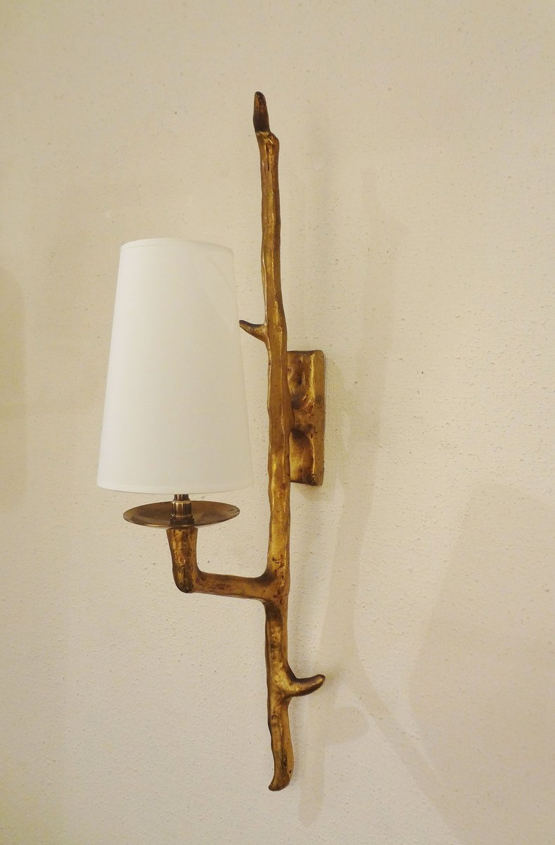Bronze Wall Sconces From Maison Arlus 1955 Set Of 3 For Sale At Pamono