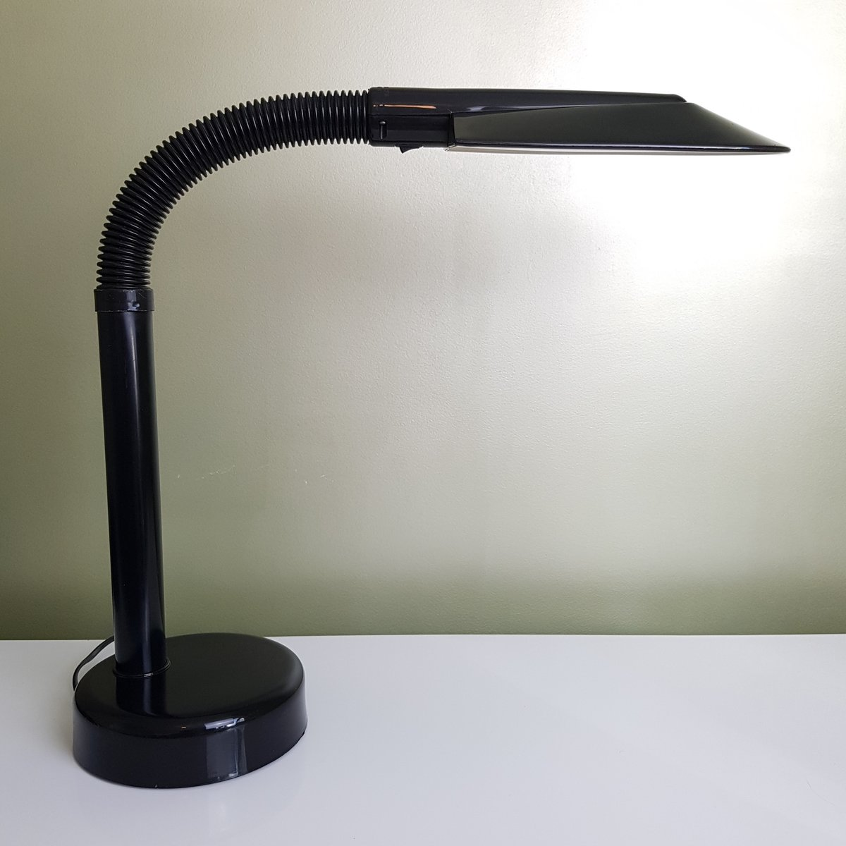Schwarze Schwedische Schreibtischlampe von Fagerhults, 1980er