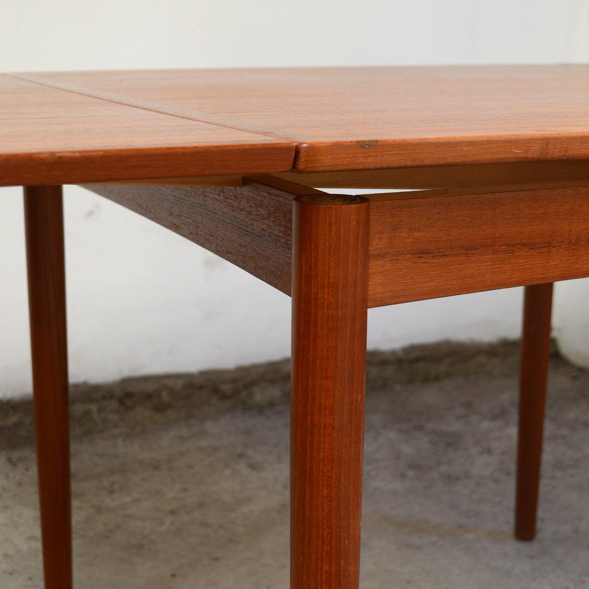 Tavolo da pranzo quadrato mid century in teak di poul hundevad per hundevad co in vendita su - Tavolo da pranzo quadrato ...