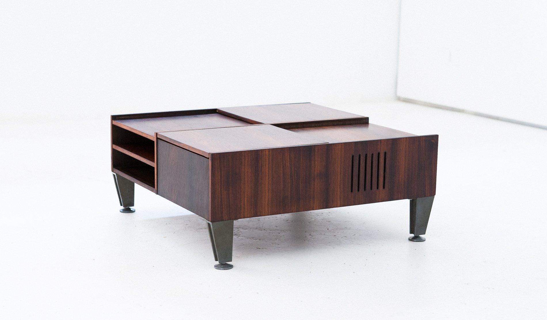 Multifunktionaler Moderner Italienischer Palisander Couchtisch, 1960er
