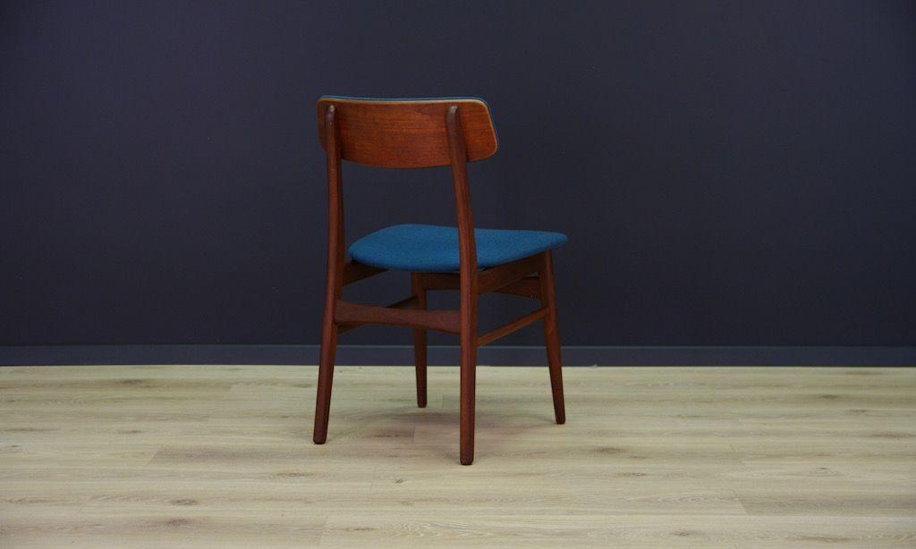 d nische vintage teak esszimmerst hle 3er set bei pamono kaufen. Black Bedroom Furniture Sets. Home Design Ideas