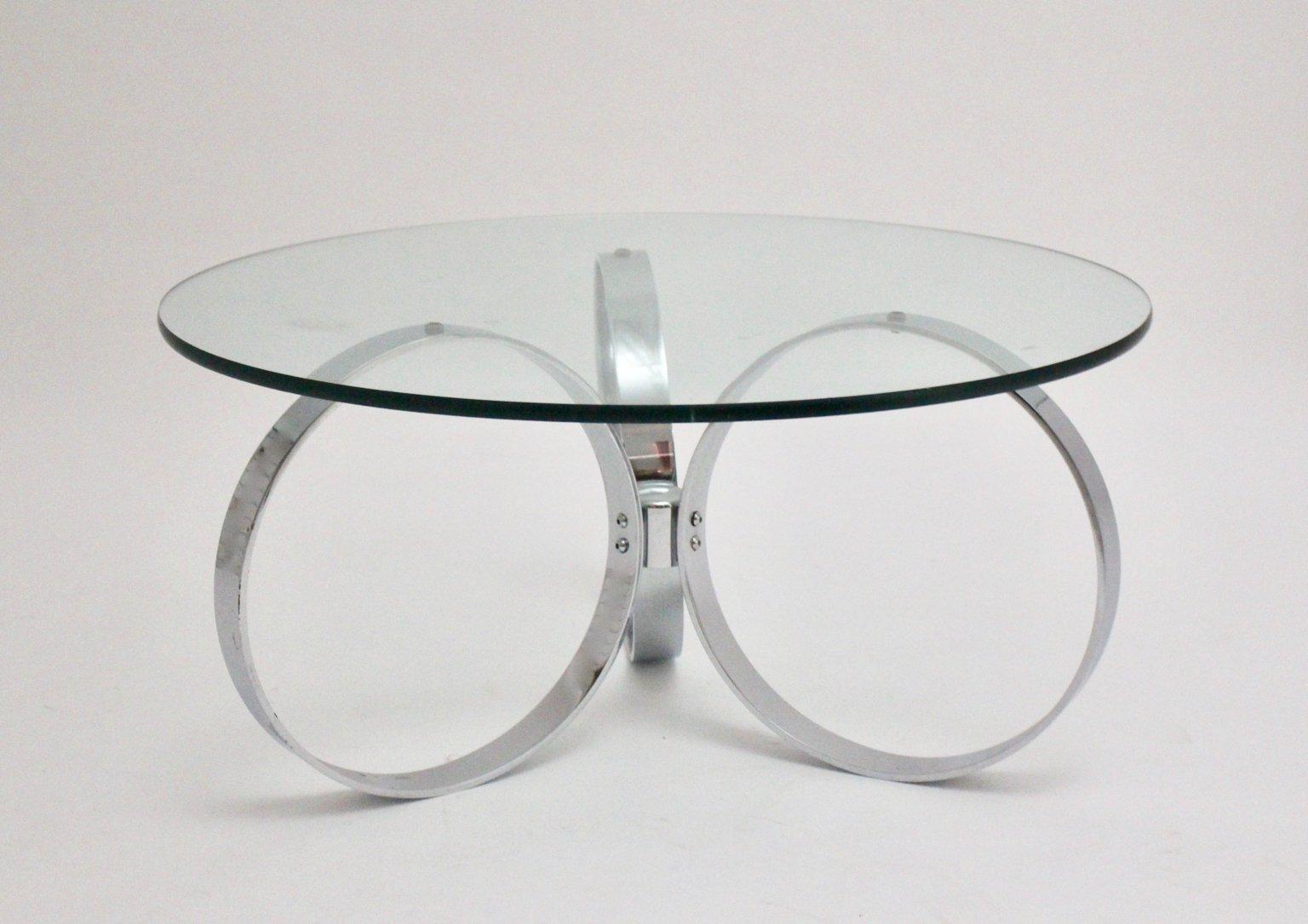 Mid Century Modern Chromed Coffee Table 1960s