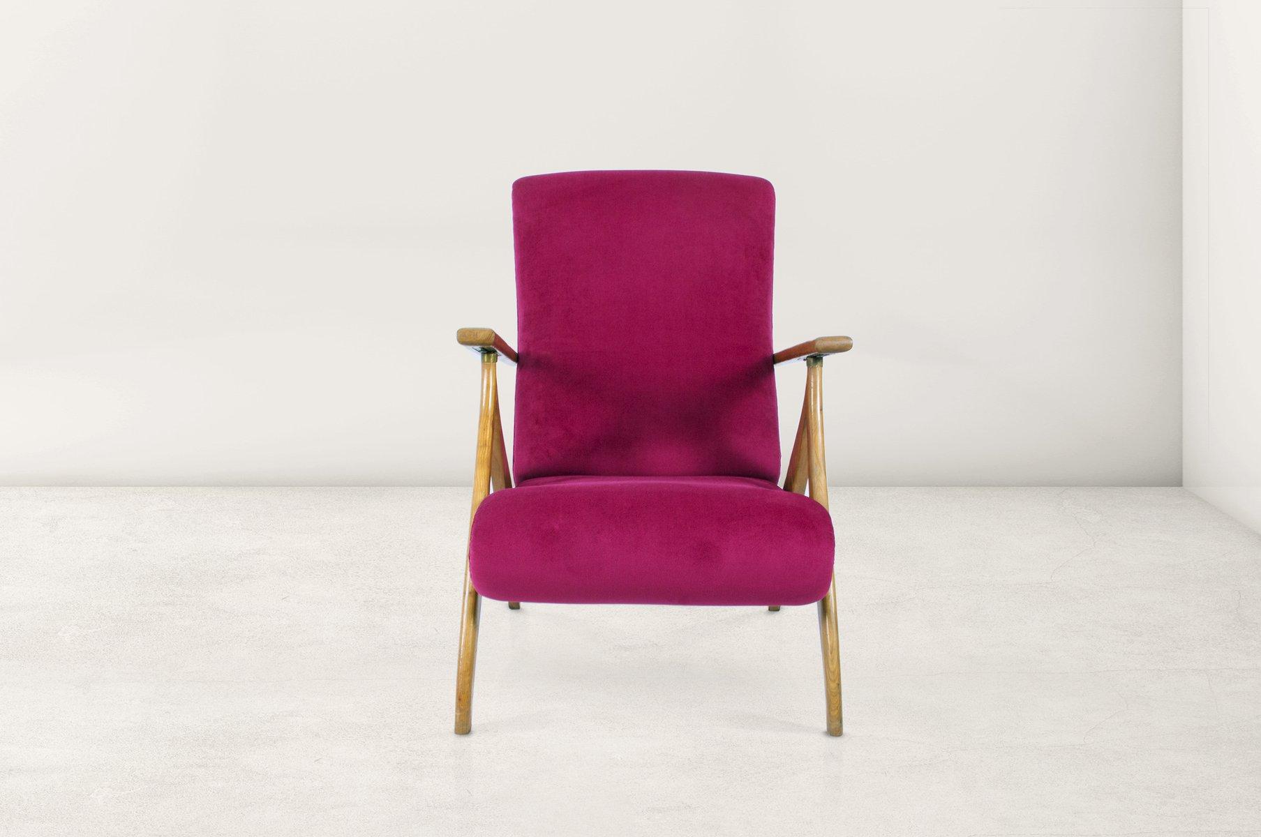 Italienische Sessel mit Hoher Rückenlehne, 1950er, 2er Set