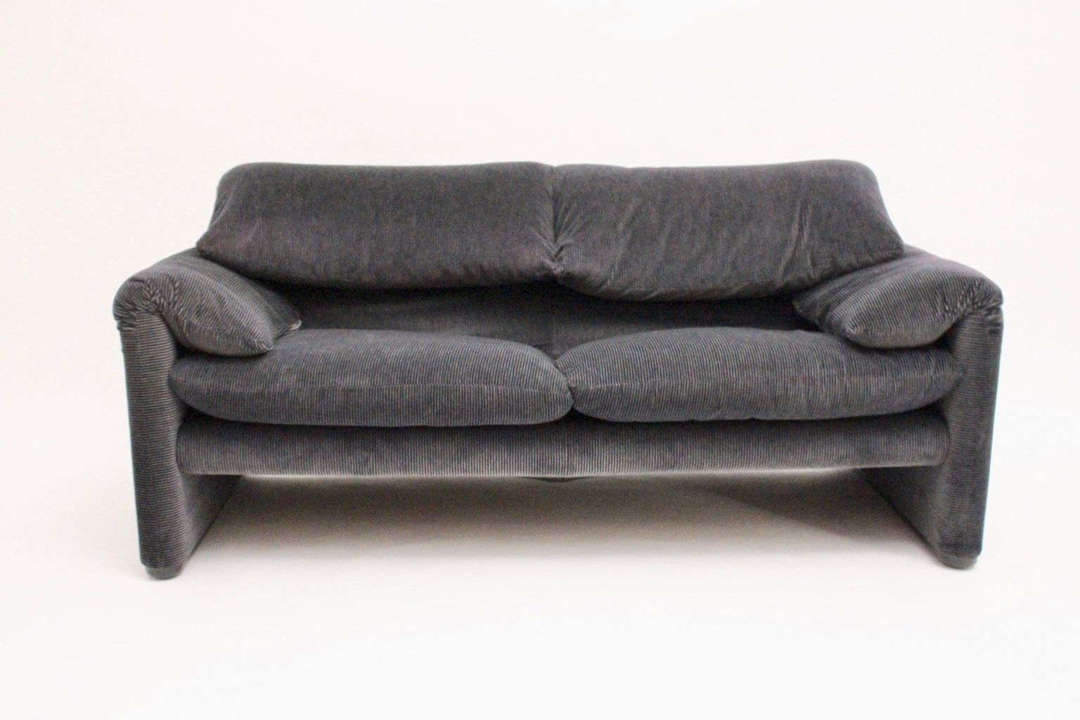 2-Sitzer Sofa Maralunga von Vico Magistretti für Cassina, 2er Set