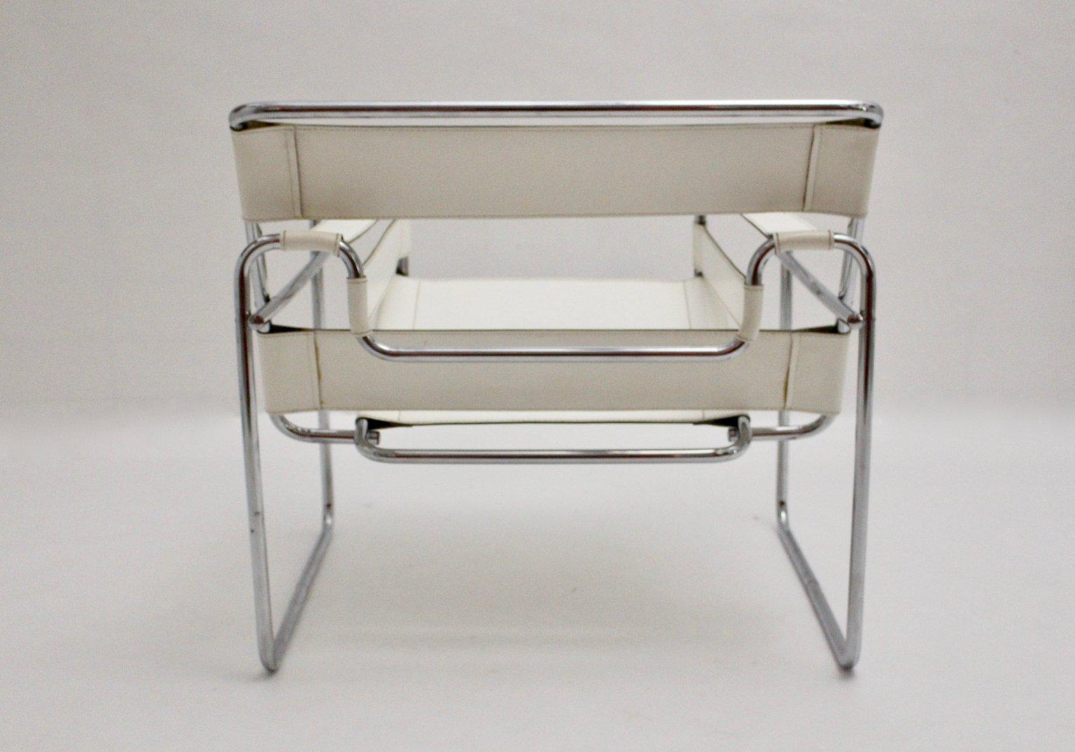 wei er vintage wassily armlehnstuhl von marcel breuer bei. Black Bedroom Furniture Sets. Home Design Ideas