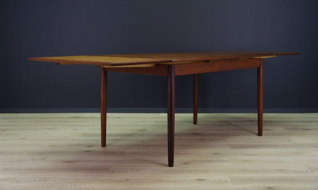 d nischer mid century tisch mit teak furnier bei pamono kaufen. Black Bedroom Furniture Sets. Home Design Ideas